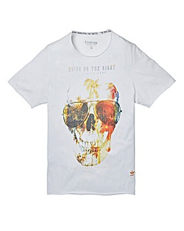 Firetrap Hayden White T-Shirt Long