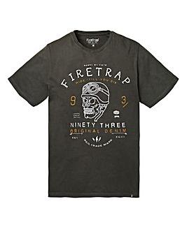 Firetrap Crafted Black T-Shirt Regular