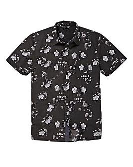 Firetrap Olly Dark Floral Print Shirt L