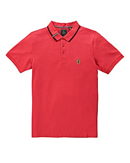 Luke Sport Mead Pique Marina Red Polo L