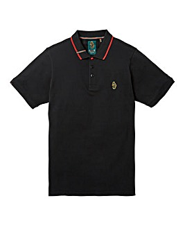 Luke Sports Mead Pique Black Polo Reg