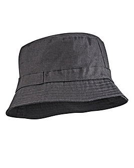 Label J Plain Black Bucket Hat