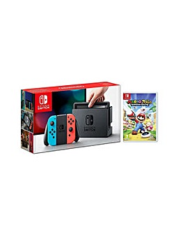 Nintendo Switch Neon and Mario  Rabbids
