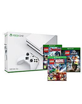 Xbox One S 500gb White Inc 3 Lego Games