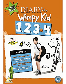 Diary Of A Wimpy Kid 1 to 4 Boxset DVD