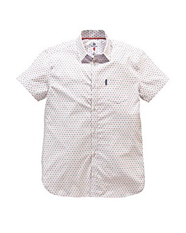 Lambretta Watson White Print Shirt Reg