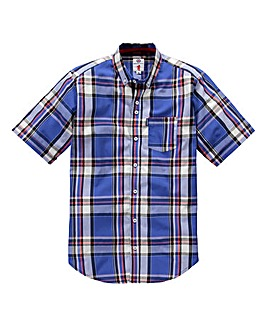 Lambretta Torchino Blue Check Shirt Long