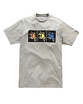 Lambretta Square Box Grey T-Shirt Long