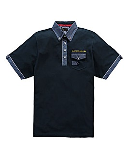 Hamnett Gold Ario Navy Polo Long