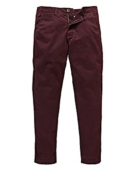 Jacamo Wine Stretch Tapered Chino 29in