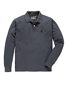 Jacamo Charcoal Long Sleeved Polo Long