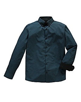 Black Label By Jacamo Dundee Teal Shrt R
