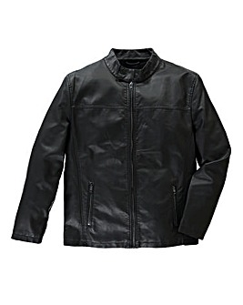 French Connection PU Black Biker Jacket