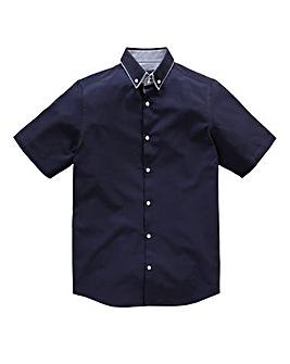 Black Label By Jacamo Arran Blue Shirt L