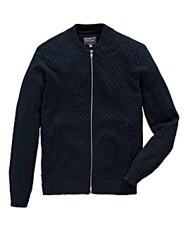 Peter Werth Knitted Cotton Zip Thru Bomb