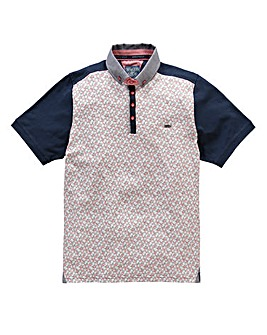 Bewley & Ritch Senti Navy Floral Polo
