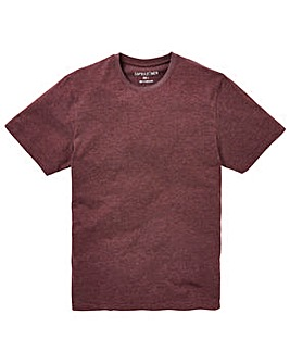 Capsule Crew Neck Plum Marl T-shirt Long