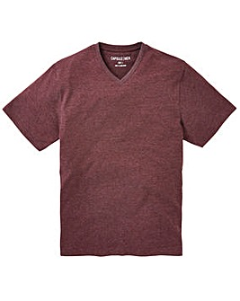 Capsule V-Neck Plum Marl T-shirt Long