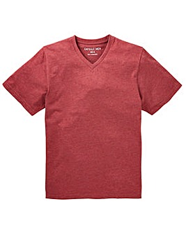 Capsule V-Neck Red Marl T-shirt Regular