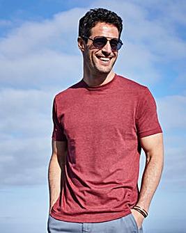 Capsule V-Neck Red Marl T-shirt Regular