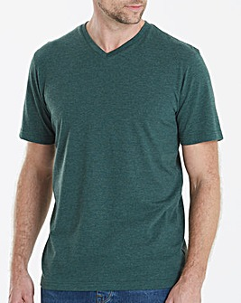 Capsule V-Neck Green T-shirt Regular