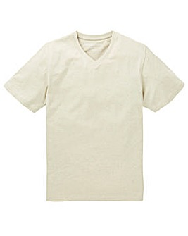 Capsule V-Neck Oatmeal T-shirt Long