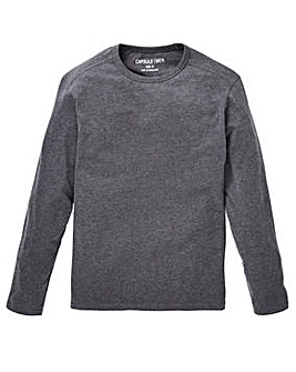 Capsule L/S Charcoal T-shirt Regular