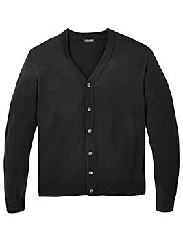 Capsule Black Button Cardigan