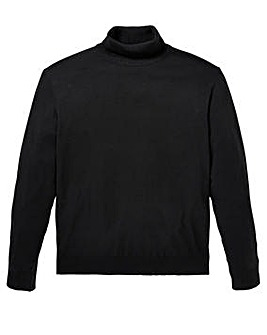 Capsule Black Roll Neck Jumper