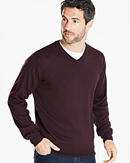 Capsule Plum V-Neck Jumper