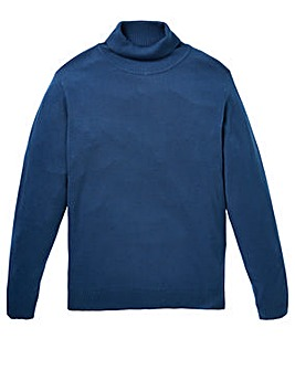 Capsule Storm Blue Roll Neck Jumper