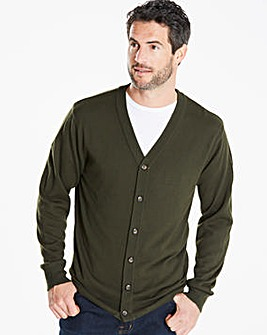 Capsule Khaki Button Cardigan