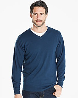 Capsule Storm Blue V-Neck Jumper