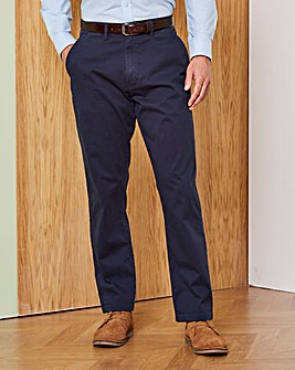 Capsule Navy Stretch Chinos 29in