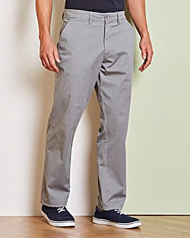 Capsule Grey Stretch Chinos 29in