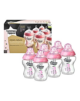 Tommee Tippee 6 x Pink Bottles