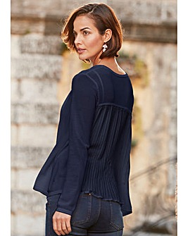 Pleat Back Shrug