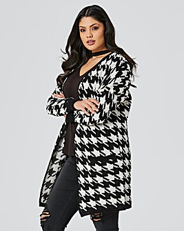 Dogtooth Brushed Cardigan
