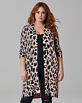 Animal Printed Edge to Edge Cardigan