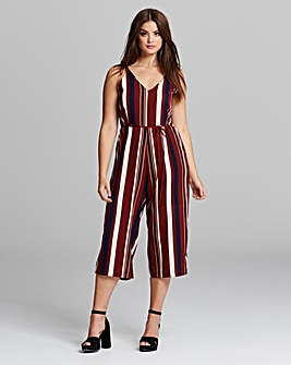 AX Paris Stripe Cullotte Jumpsuit