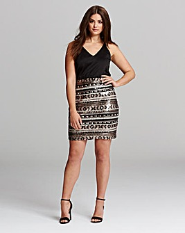AX Paris Curve Sequin Detail Dress