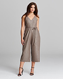 Ax Paris Curve Textured Jumpsuit