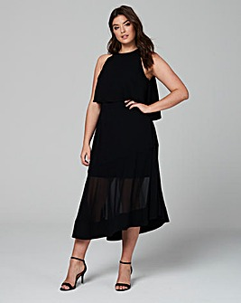 Coast Lola Overlay Midi Dress