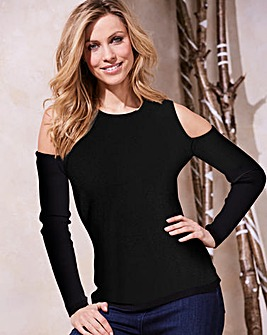 Black Cold Shoulder Jumper