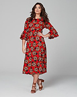 Traffic People Bell Sleeve Dress