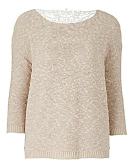 Lace Back Jumper