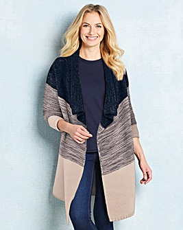 Ombre Metallic Waterfall Cardigan