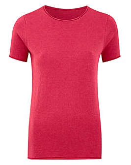 Roll Edge Short Sleeve Jumper