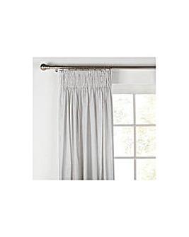 Unlined Pleat Curtains  229x229cm Slate