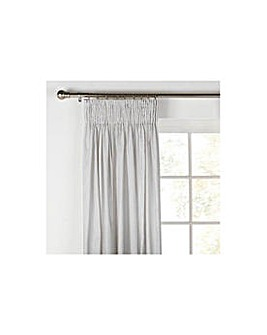 Unlined  Pleat Curtains 117x183cm  Slate